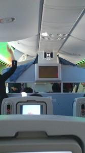 787の機内(前方)