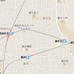 大岡山付近